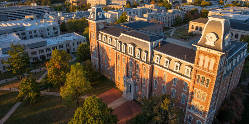 University of Arkansas campus featuring Old Main
